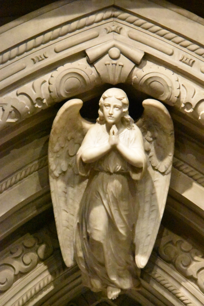 Angel praying St. Patrick's Cathedral NYC